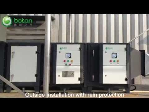 commercial Kitchen electrostatic precipitator ESP for grease and smoke r...