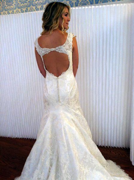 modern trousseau wedding dress - back