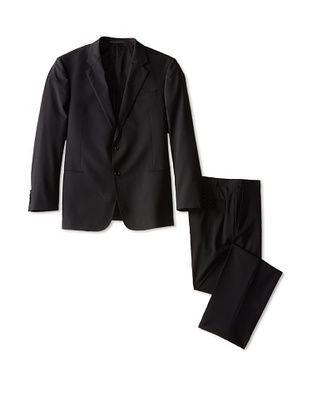 -72,400% OFF Armani Collezioni Men's Notch Lapel Two Button Suit (Black)