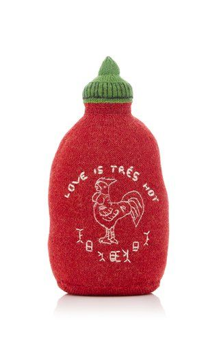 M'O Exclusive Hot Sauce Knit Pillow by Oeuf