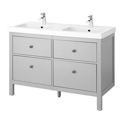 HEMNES / ODENSVIK Sink cabinet with 4 drawers IKEA Smooth-running and soft-closing drawers with pull-out stop.