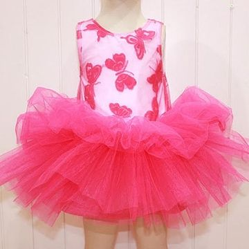 (Blush Tutu Dress) Perfect for Lil Twirlers, this vibrantly hued Tutu Frock will make her frolic in style, fabric: Cotton blends with soft Tulle fabric. Its soft material makes your girl remain comfortable all through.