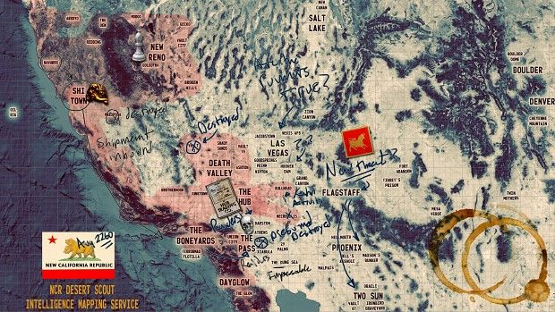 Fallout Las Vegas Map.Fallout New California S Territories Map Fallout New California