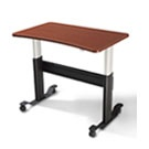 adjustable height desk...work while standing and lose weight. many health benefits.