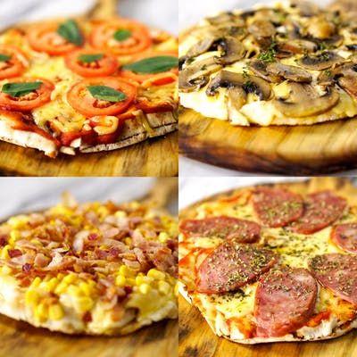 Aprenda 4 receitas de pizza de frigideira com pão árabe super rápidas e saborosas!
