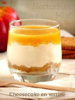Cheesecake sans cuisson au miel et coulis de nectarines
