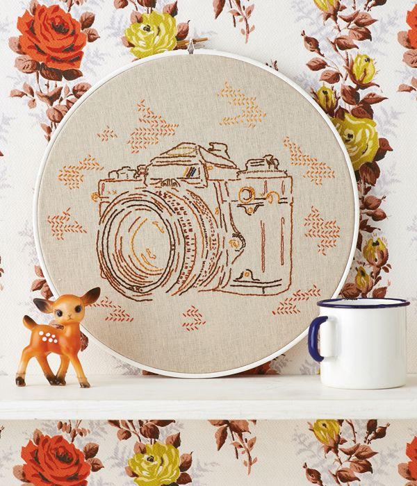 Embroidery hoop art in Mollie Makes 35
