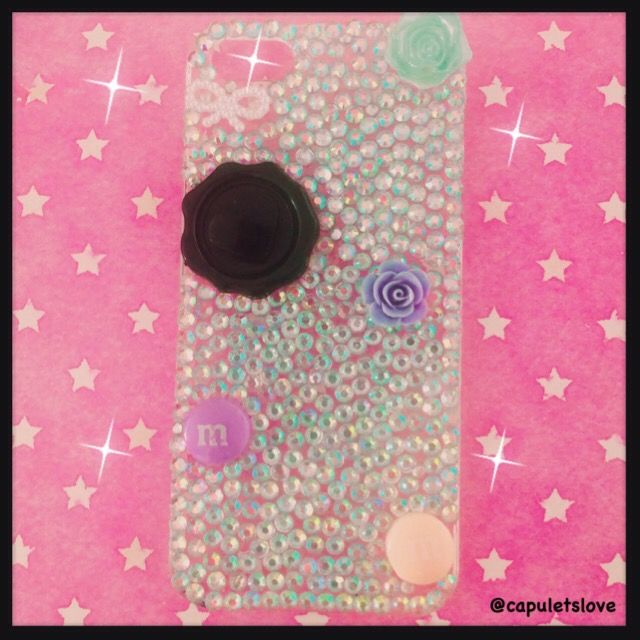 Handmade bling tastic deco iPhone 5/s case available at www.capuletslove.storenvy.com