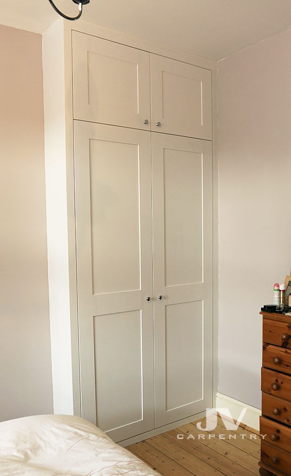 Fitted Wardrobe With Shaker Doors Made Out Of Mdf And Hand Painted On Site In 2020 Alcove Wardrobe Fitted Bedroom Furniture Bedroom Storage