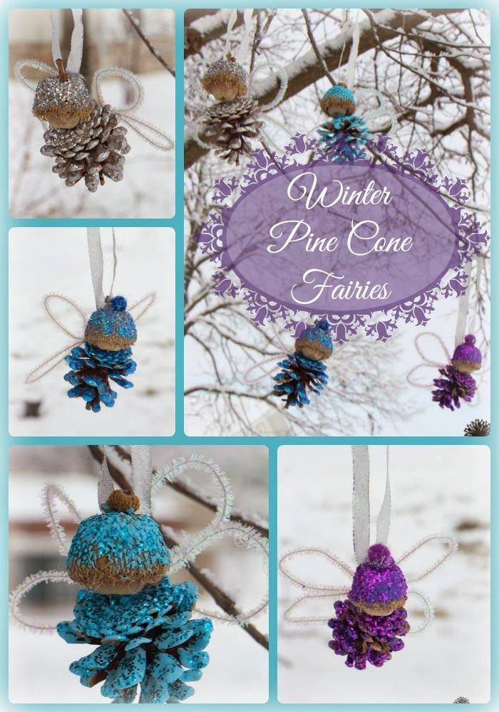 Life with Moore Babies: Pine Cone Winter Fairies