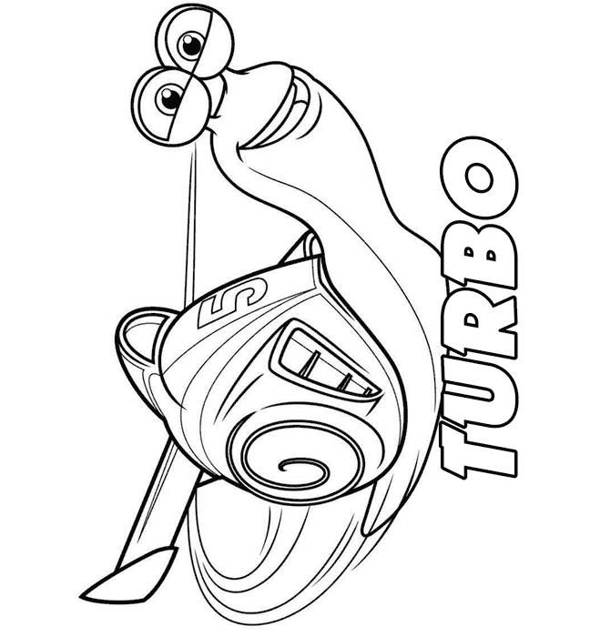 Coloring Page Turbo Pixar Turbo Cool Coloring Pages Coloring