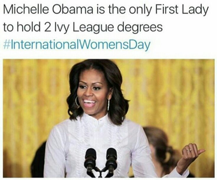 I'm so glad a generation of little girls has grown up with this woman in the White House.