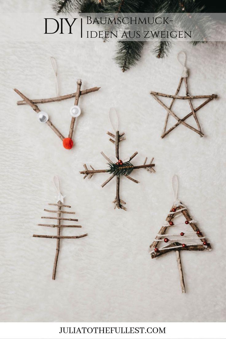 5 Bezaubernde Ideen Fur Christbaumschmuck Aus Zweigen Weihnachten