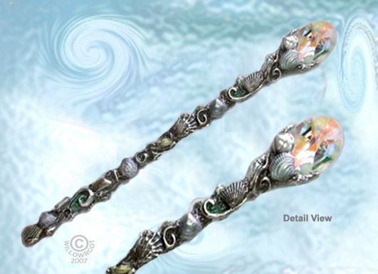 A beautiful Ocean Mother wand, by Abby Willowroot.