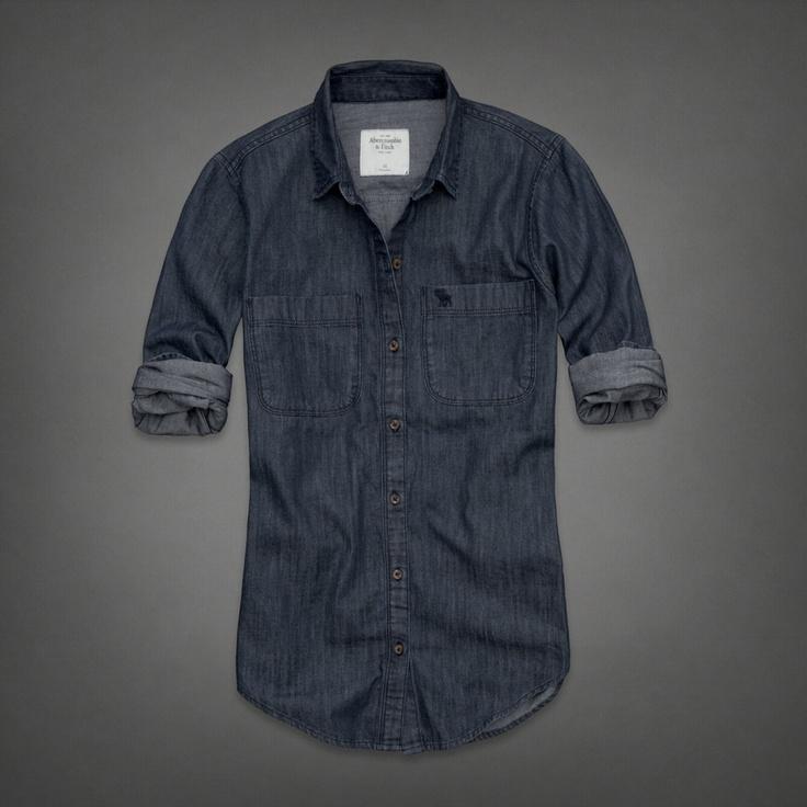 I like the dark colour - Womens Rebecca Denim Shirt | Womens THE HOTTEST BLUES | eu.Abercrombie.com
