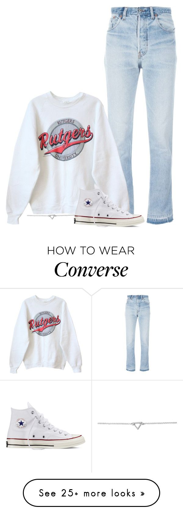 """""""#833"""" by ifashion02 on Polyvore featuring RE/DONE, BillyTheTree and Converse"""