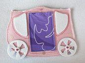 Porta pigiama carrozza principessa in feltro