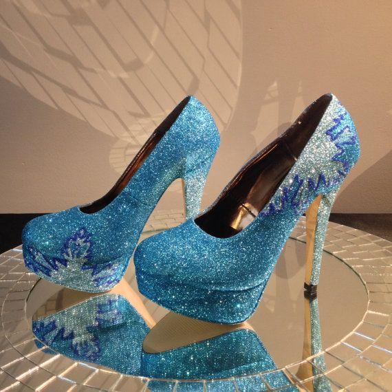 Elsa congelée inspiré des chaussures de haut talon