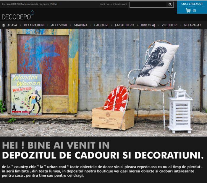 Proiect de ecommerce dedicat decoratiunilor