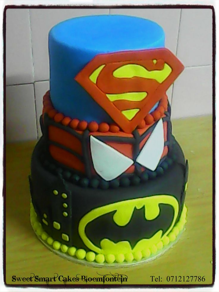 SUPER HERO CAKE For more info & orders, email SweetArtBfn@gmail.com or call/whatsapp 0712127786 (CAKE DECORATING CLASSES AVAILABLE)