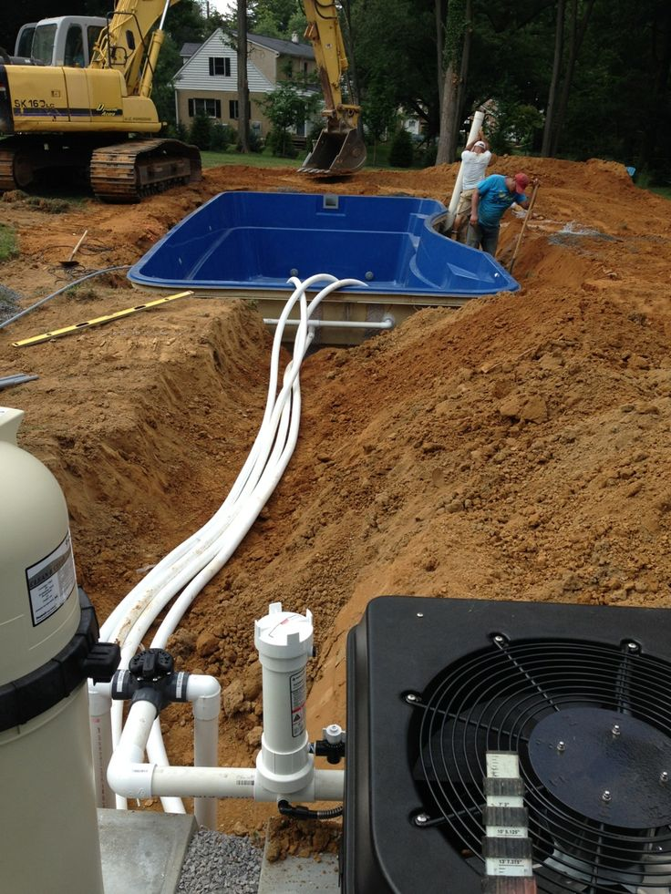 Fiberglass Pool Plumbing : Images about fiberglass pool install on pinterest
