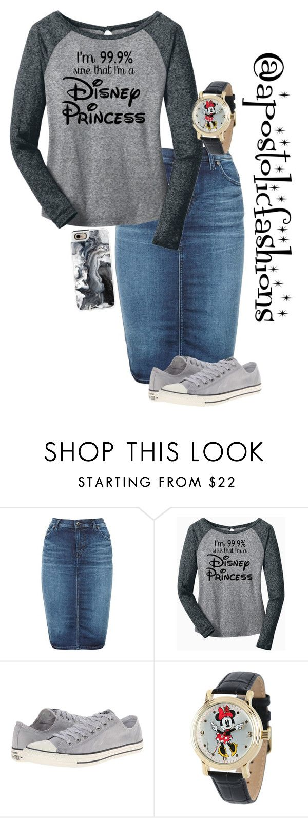 """Apostolic Fashions #1345"" by apostolicfashions on Polyvore featuring Diesel, Converse, Disney and Casetify"