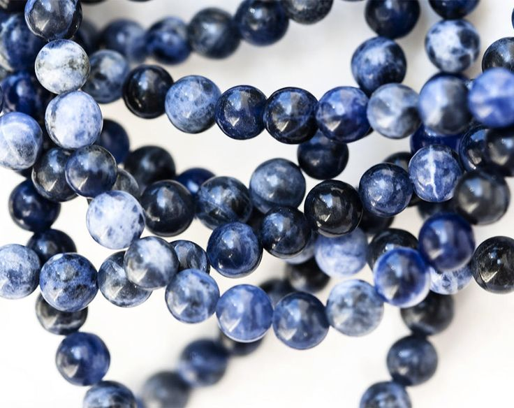 2527_Blue sodalite 6.5 mm, Round beads, Blue stone beads, Sodalite stone beads, Natural stone beads, Gemstone beads, Semi precious stones. by PurrrMurrr on Etsy