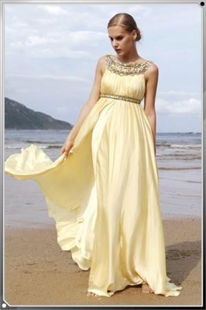 Как украсить желтое вечернее платье своими руками