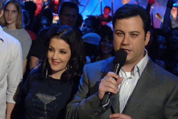 Lisa and Host Jimmy Kimmel on the 'Jimmy Kimmel Live ...