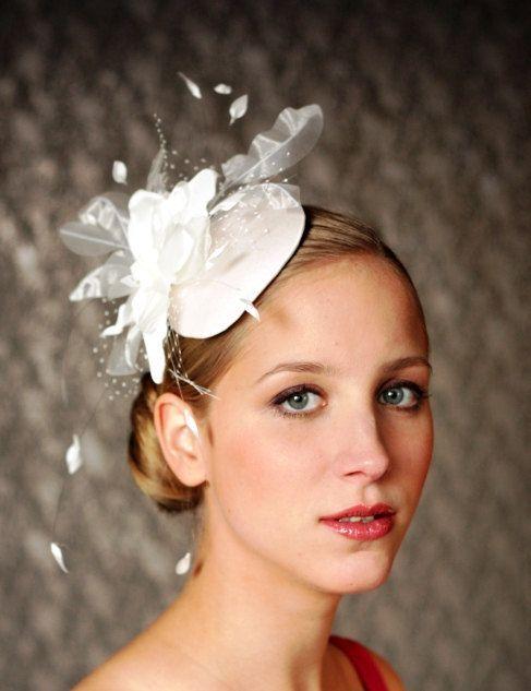 BIRDCAGE+VEIL++ivory+wedding+hat+bridal+hat.+by+klaxonek+on+Etsy