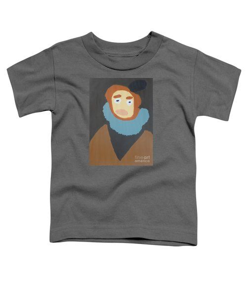 Toddler T-Shirt featuring the painting Portrait Of Maria Anna 2015 - After Diego Velazquez by Patrick Francis
