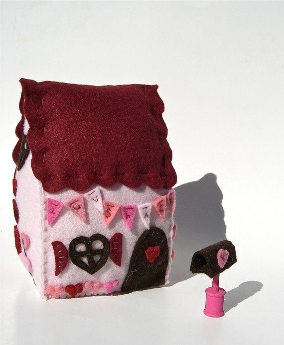 casita de fieltro, felt house