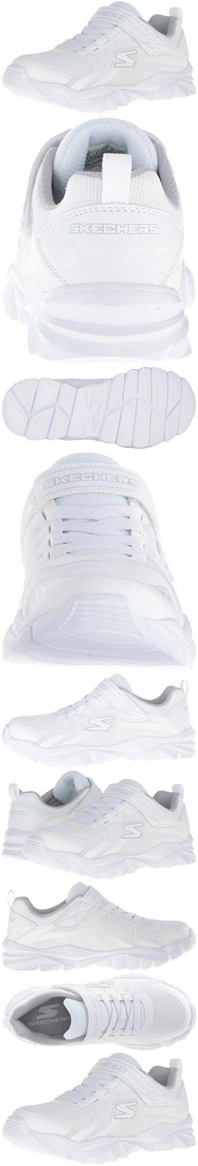 Skechers Kids Electronz Blazar Sneaker (Little Kid/Big Kid), White, 11 M US Little Kid