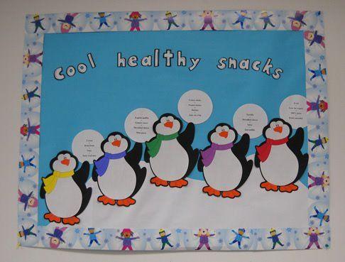 Cool Healthy Snacks Bulletin Board Idea