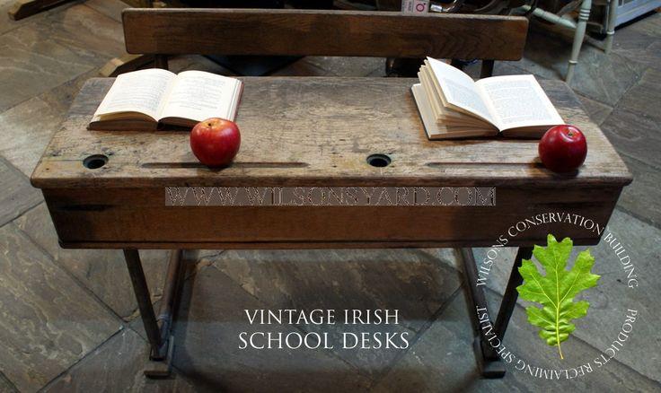 Vintage Irish School Desks | Wilsonsyard.com