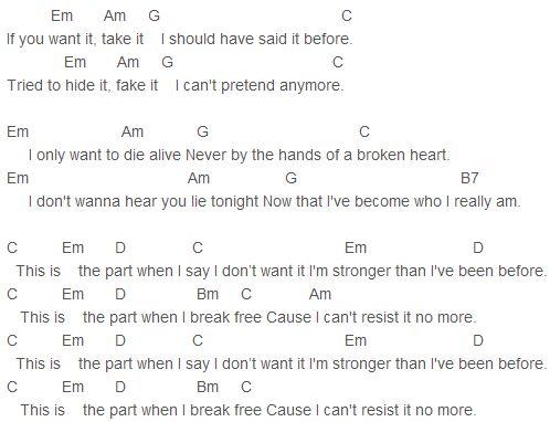 Tracey Ullman - Breakaway Chords - Chordify