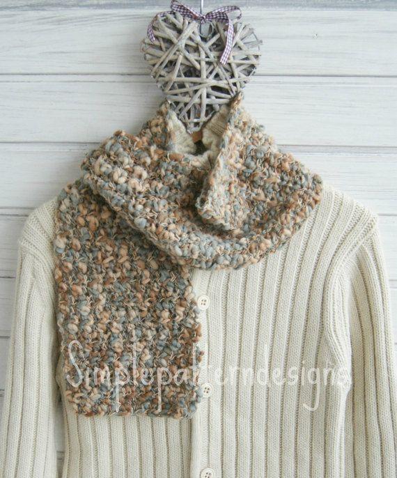 CROCHET KIT  Irregular yarn crochet scarf beginner crochet