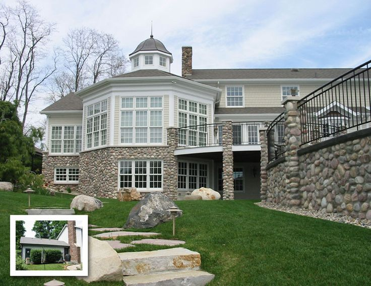 Before and after sunroom addition and exterior renovation for Renovation projects before and after