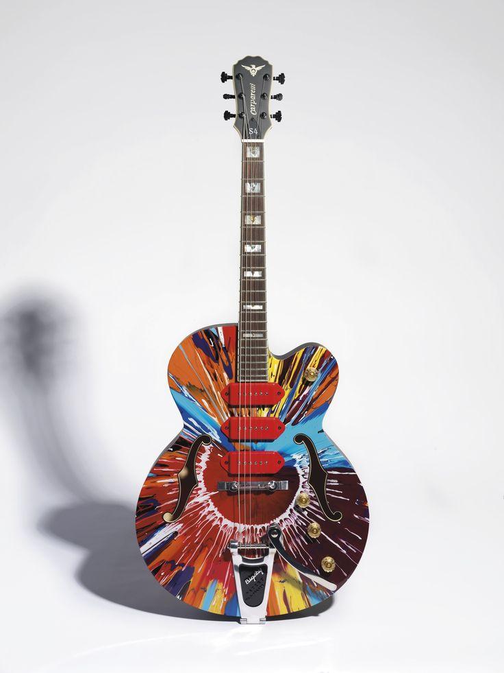 Guitar Designs Art : Best images about guitar art color on pinterest tie