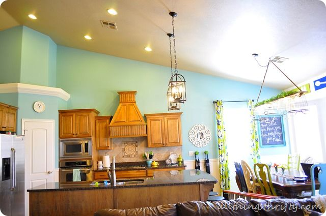 Sherwin Williams Raindrop blue a beautiful kitchen that actually looks realistic