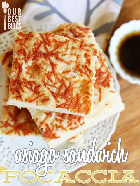 Cheesy Asiago Sandwich Focaccia | Focaccia, Breads and ...