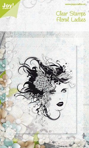 Noor! Design Floral Ladies Clearstempel 6410/0071 1 st.