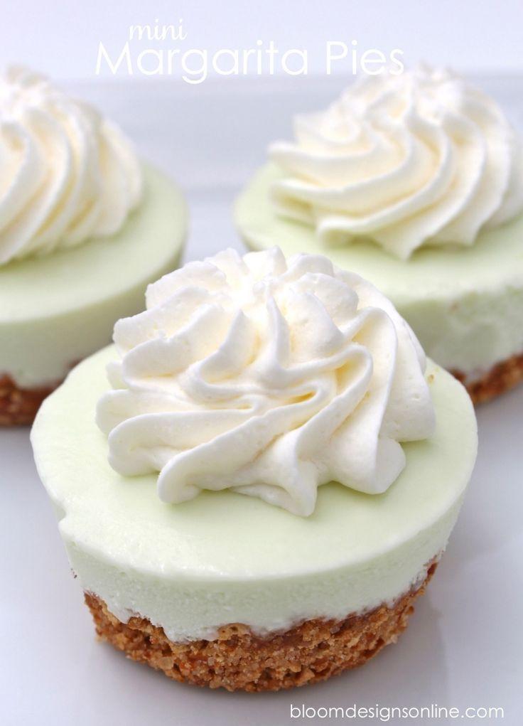 Margarita Pie Bites topped with homemade whipped cream!   Nosh-up