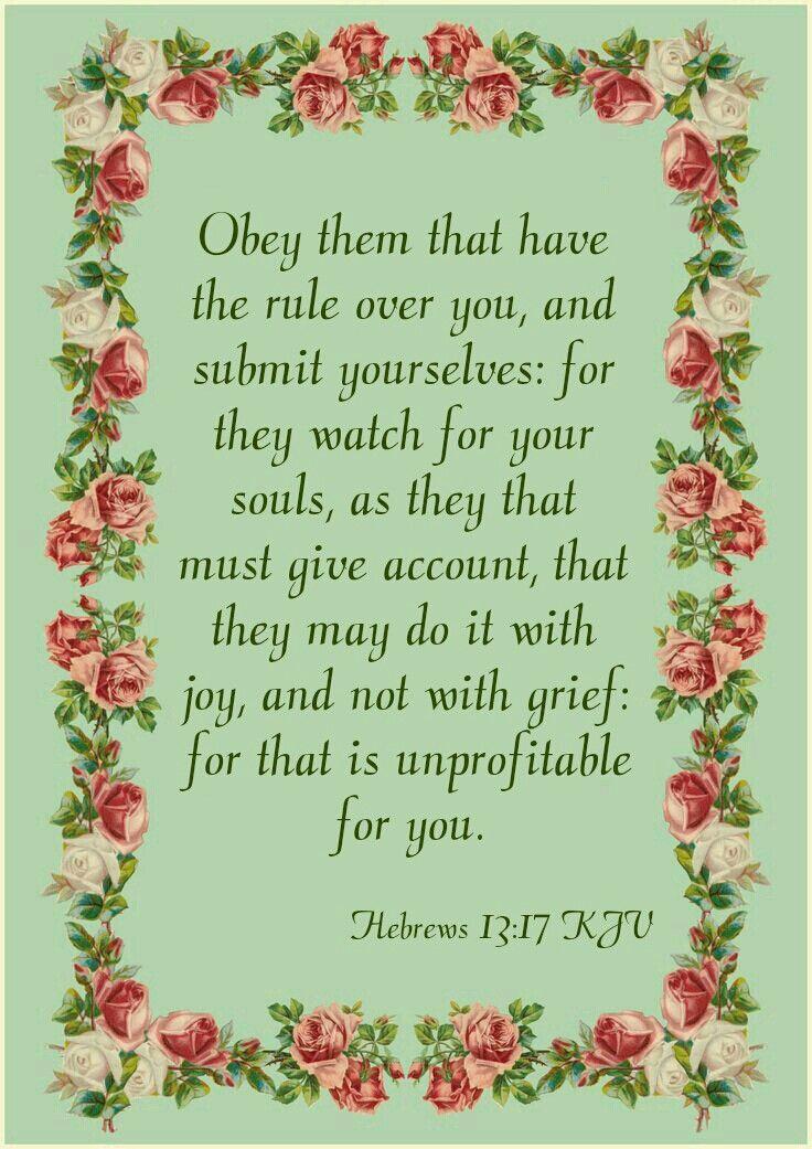 Hebrews 13:17 KJV