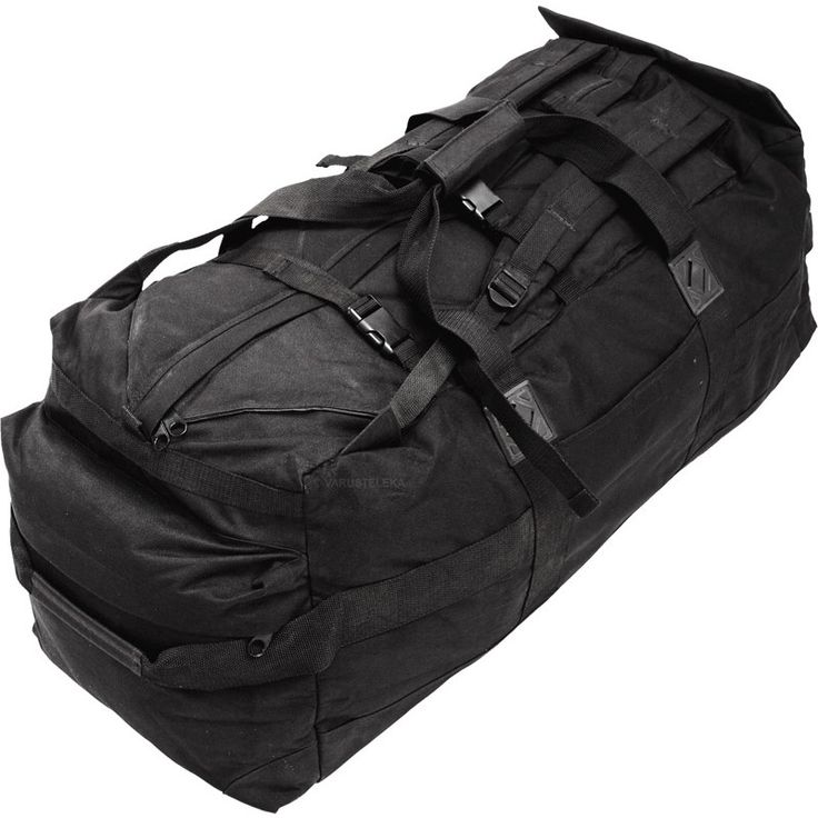 For some reason, the British army sold off a huge amount of black backpacks and cargo bags as surplus. We now have the pleasure to offer these large bags at a reasonable price.
