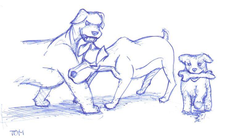 Als 2 honden vechten op een been, loopt de derde er mee heen