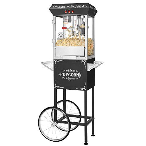 Best Kitchen Cart | Superior Popcorn Company 4660 Movie Night Popper Machine and Cart 8 oz Black *** Click on the image for additional details. Note:It is Affiliate Link to Amazon.