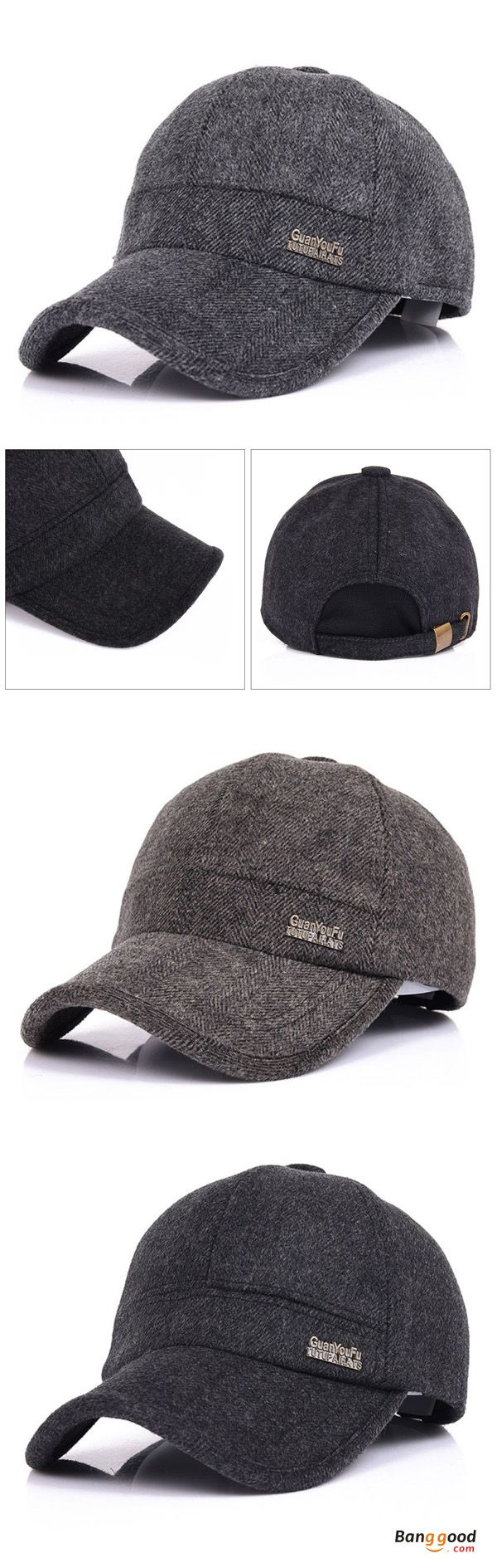 US$10.99+Free shipping. Men Caps, Baseball Hats, Snapback Caps, Adjustable, Warm, Woolen, Thicken, With Ear Flaps. Color: Black, Dark Grey, Coffee.Shop now~