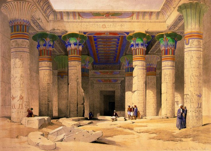 David Roberts Grand Portico of the Temple of Philae