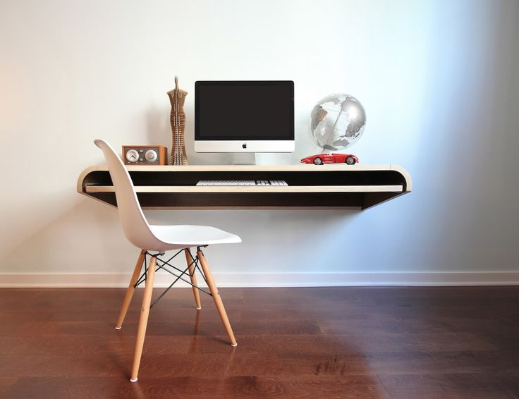 Minimal Float Wall Computer Desk By Orange22